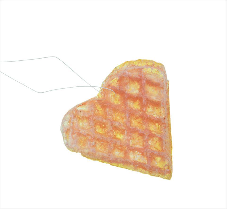 Basteln: So sehen die Esspapierherzen am Ende aus