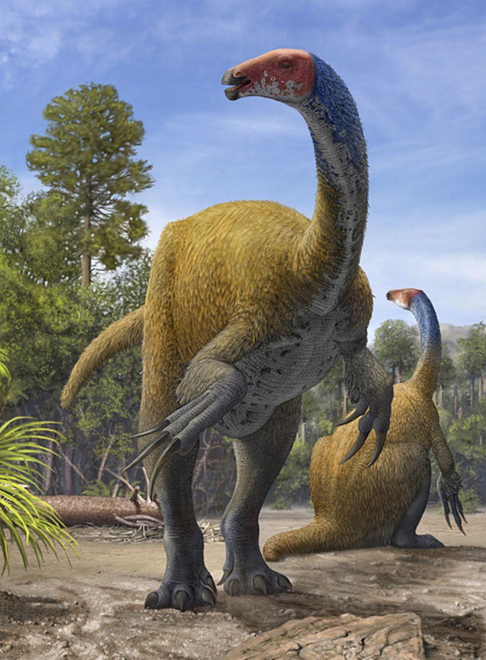 Tierlexikon: Der Therizinosaurus war ein gefährlicher Zeitgenosse
