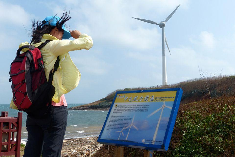 Exportschlager Energiewende: Windräder als Touristenattraktion: Im Zhongtun-Windpark bläst fast immer eine steife Brise