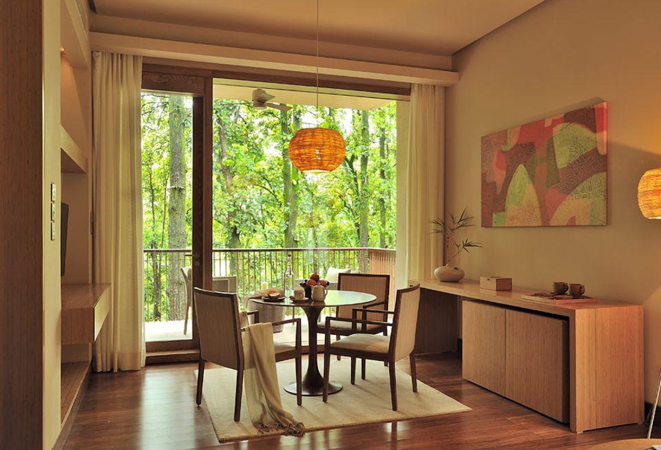 INDIEN: Nachhaltiges Design und der Blick ins Grüne sollen die Seele entspannen