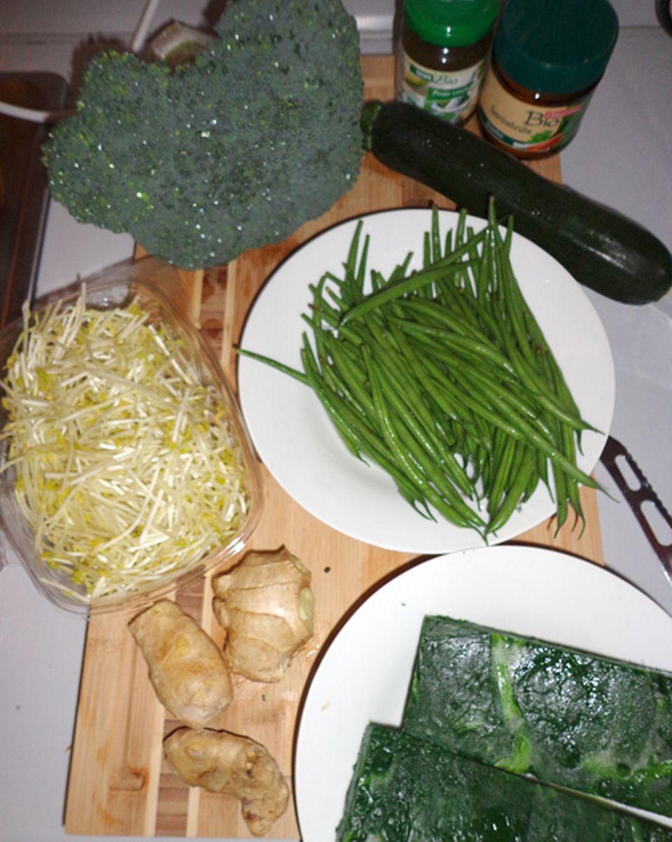Rezept: Grünes im Wok