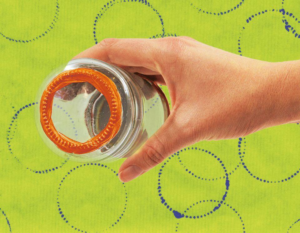 Bastelideen: Ruckzuck zaubert ihr Kreise mit einem Marmeladenglas
