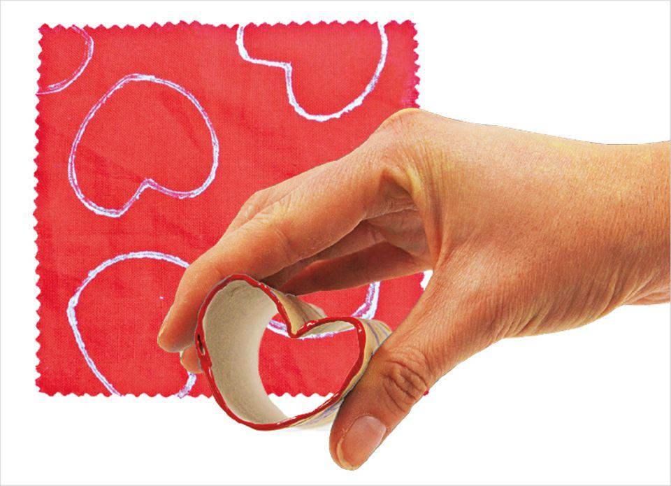 Bastelideen: Für die Romantiker unter euch: Der Herzstempel