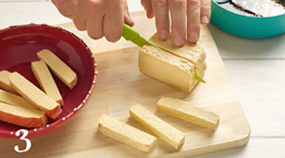 Rezept: Gebratener Tofu auf Salat