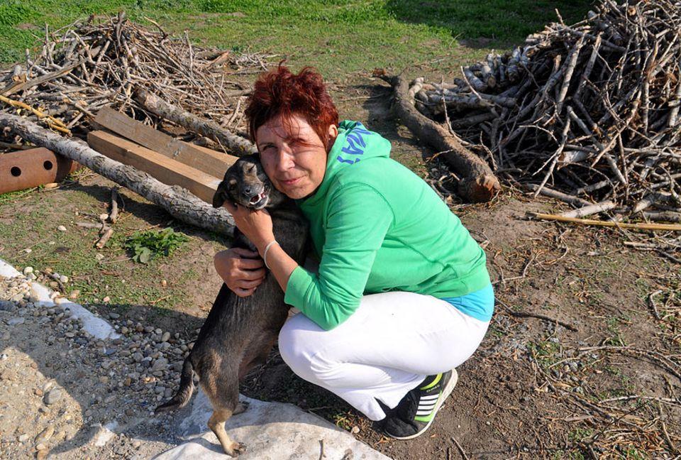 """Rumänien: """"Hunde sind mein Leben"""", sagt Petra Ciocan, die tatsächlich mittlerweile alles für die Tiere opfert"""