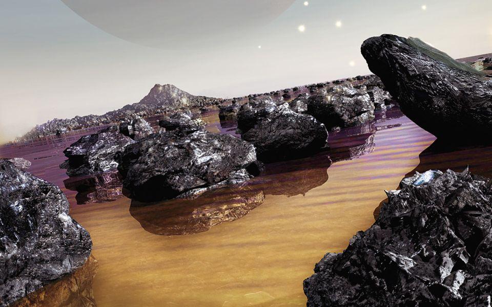 Milchstraße: Eine Welt aus Benzin und Diamanten: Im Sternbild Krebs haben Forscher einen Himmelskörper entdeckt, etwa doppelt so groß wie die Erde, der vermutlich vor allem aus Kohlenstoff besteht. Dort könnte es Seen aus Benzin geben und Landschaften aus Teer, die voller Diamanten sind