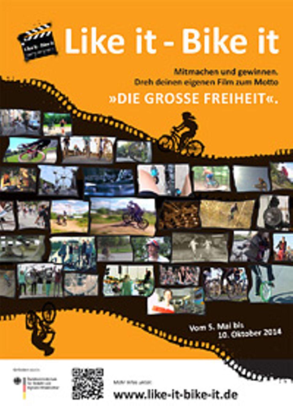 """Beim Jugendkurzfilmwettbewerb """"Like it – Bike it"""" geht es darum, das Thema Fahrradfahren und die damit verbundene große Freiheit in einem kurzen Film darzustellen"""
