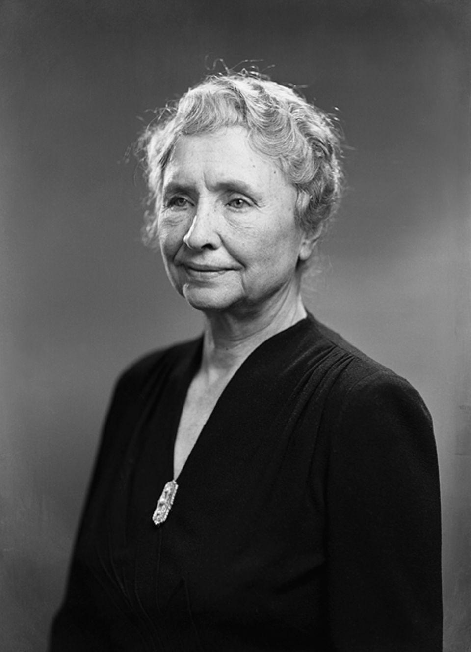 Weltveränderer: Die taubblinde Helen Keller hat selbst nie den Mut verloren. Diese Einstellung gab sie an andere blinde oder behinderte Menschen weiter