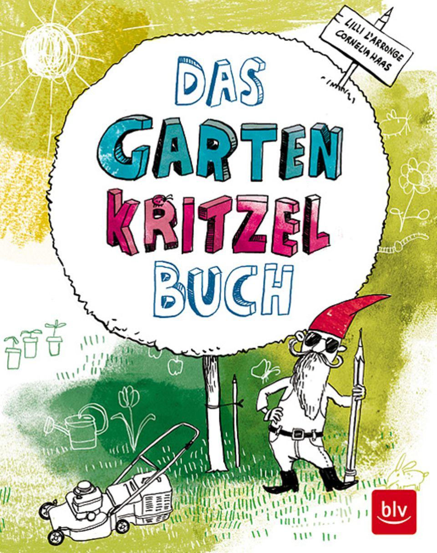 Buchtipp: Das Garten Kritzelbuch lädt zum kreativen Malen und Zeichnen ein