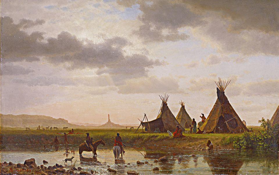 Trapper - 1803-1840: Dutzende Indianerstämme leben im Westen Amerikas: Es sind Ackerbauern, Walfänger oder Nomaden wie hier die Oglala