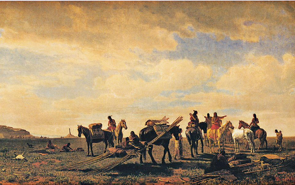 Trapper - 1803-1840: Viele Indianer des Westens handeln zwar mit Weißen, haben aber ihre nomadische Lebensweise weitgehend beibehalten