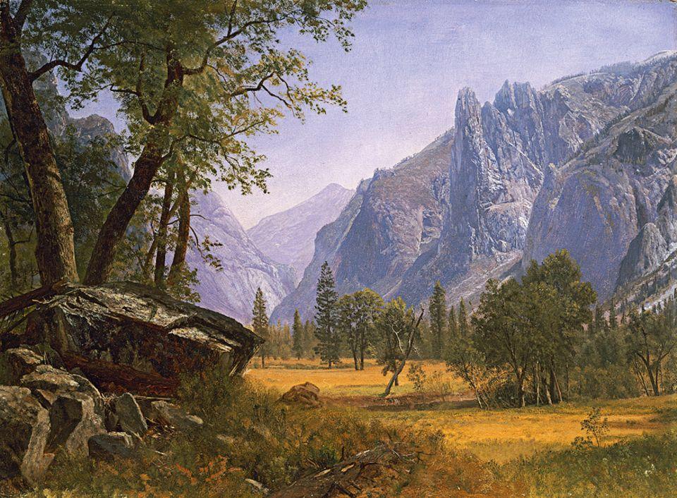 Trapper - 1803-1840: Im Westen des Kontinents erheben sich schroffe Gebirge, hier die bis zu 4400 Meter hohe Sierra Nevada in Kalifornien. Wie Schutzwälle aus Granit versperren sie den Weg zum Pazifik