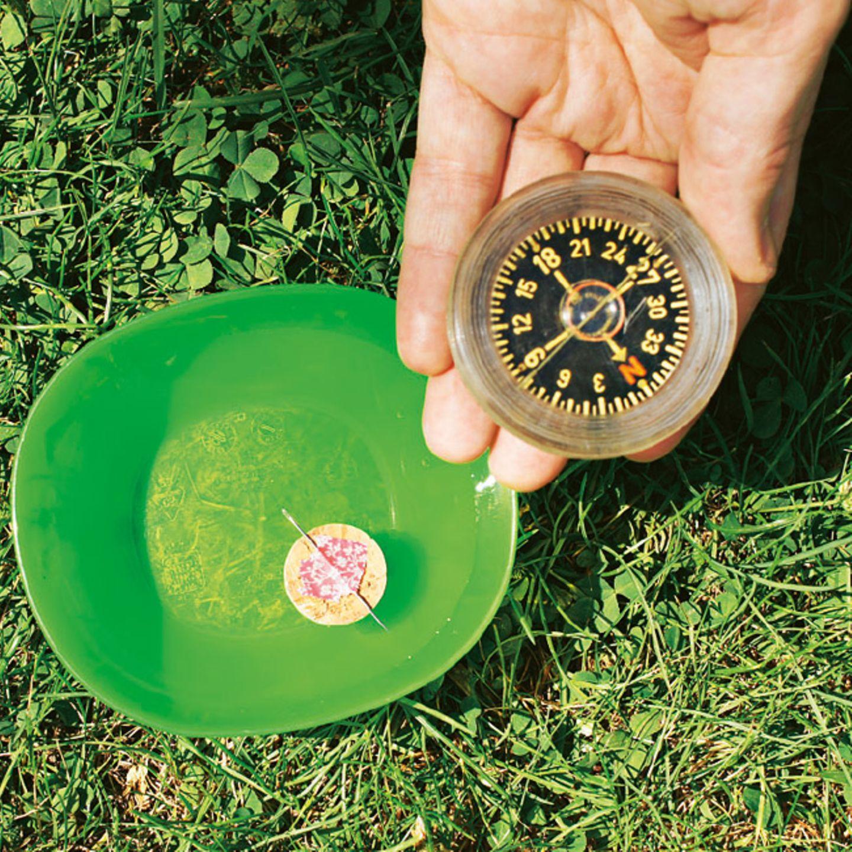 Experiment: Wie ihr seht, funktioniert euer Nadelkompass einwandfrei!