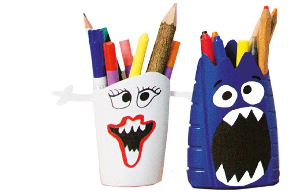Upcycling: Monstermäßig gut: Der Stiftebecher für euren Schreibtisch