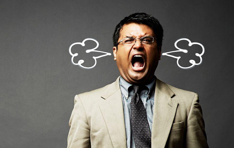 Redewendung: Auf 180 sein bedeutet rasend vor Wut zu sein