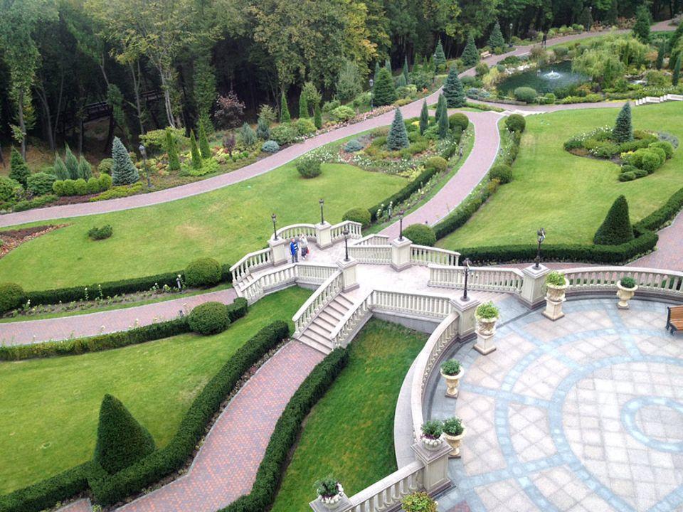 Skurriles Museum in Kiew: 1,6 Hektar misst das Außengelände, das rund um die Residenz im Norden Kiews verläuft