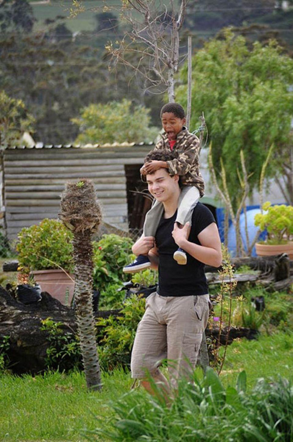 Ehrenamt: Bei ihrer Reise nach Südafrika besuchten drei Unisono-Mitglieder die Kinder