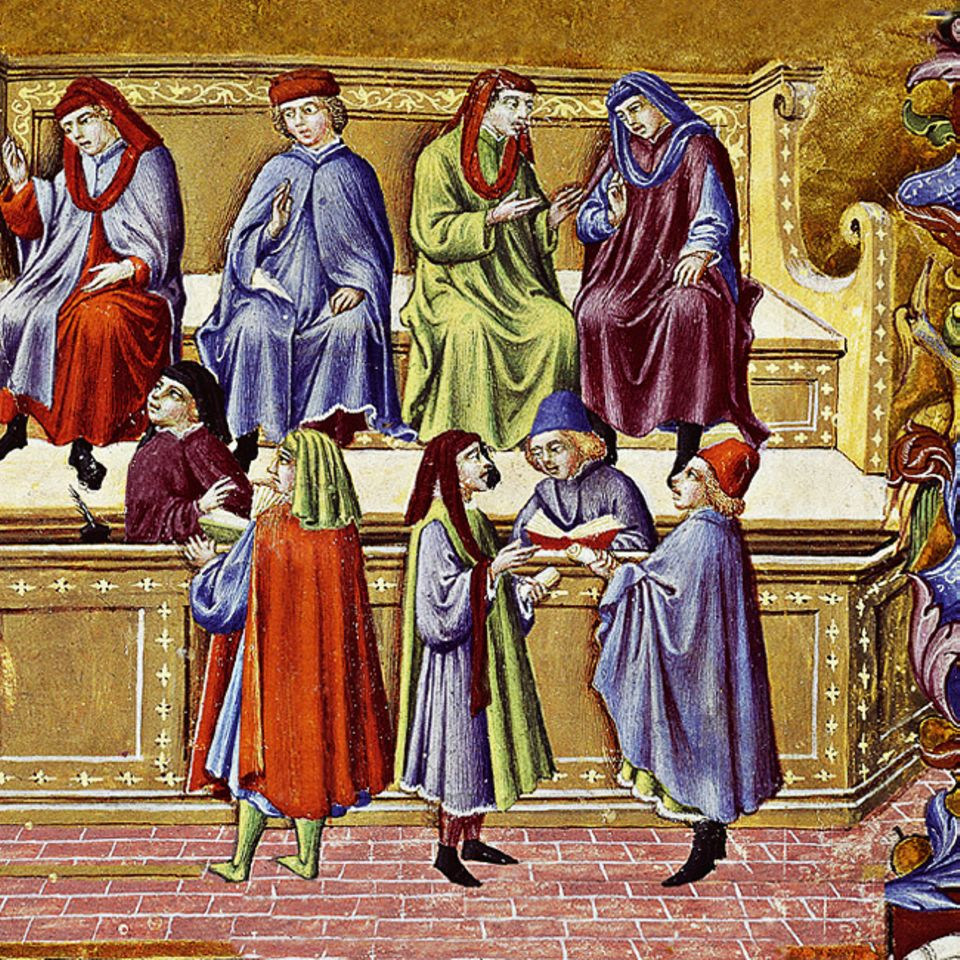 Florenz um 1300: Ab etwa 1200 lebt der Fernhandel, seit dem Ende des Imperium Romanum in weiten Teilen Europas verfallen, wieder auf. Zentren sind die Städte Italiens, die von ihrer Lage zwischen Orient und Mitteleuropa profitieren