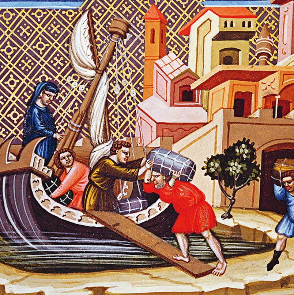 Florenz um 1300: Fernhandel mit dem Schiff ist ein einträgliches, aber auch heikles Geschäft. Daher entwickeln Italiens Kaufleute neue Unternehmensformen, in denen sich das Risiko auf mehrere Partner verteilt