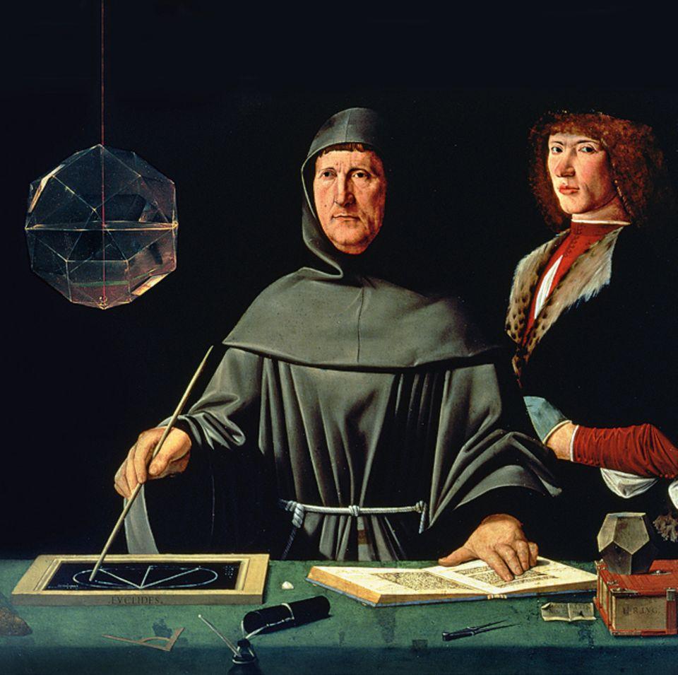 Florenz um 1300: Der Mönch Luca Pacioli beschreibt 1494 in einem mathematischen Lehrbuch erstmals systematisch die doppelte Buchhaltung, die italienische Kaufleute bereits seit zwei Jahrhunderten verwenden. Sein Werk wird in zahlreiche Sprachen übersetzt - so verbreitet sich die Kenntnis von der modernen Rechnungsführung in ganz Europa