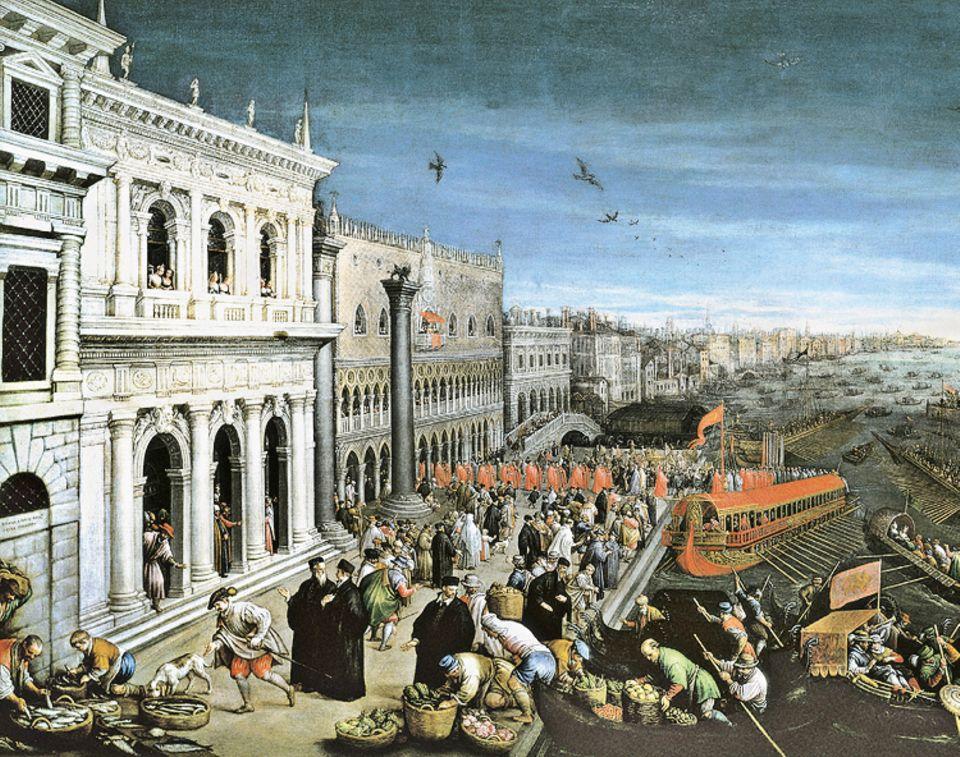 Florenz um 1300: Venedig ist ein hartnäckiger Konkurrent von Florenz. Die Galeerenkonvois der Stadt durchkreuzen das östliche Mittelmeer, im Westen führt eine Route bis nach London