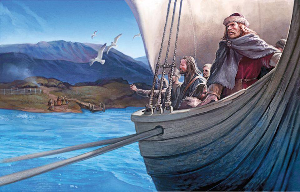 Wikinger: Leif Eriksson und seine Männer nehmen Abschied von ihrer Heimat in Grönland
