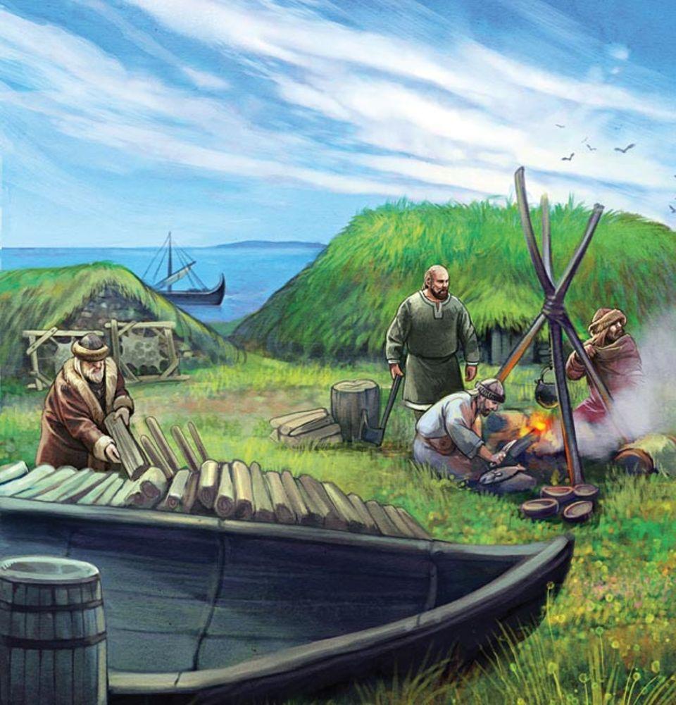 Wikinger: Auf Vinland gründet Leif Eriksson die erste europäische Siedlung: Leifsbudir