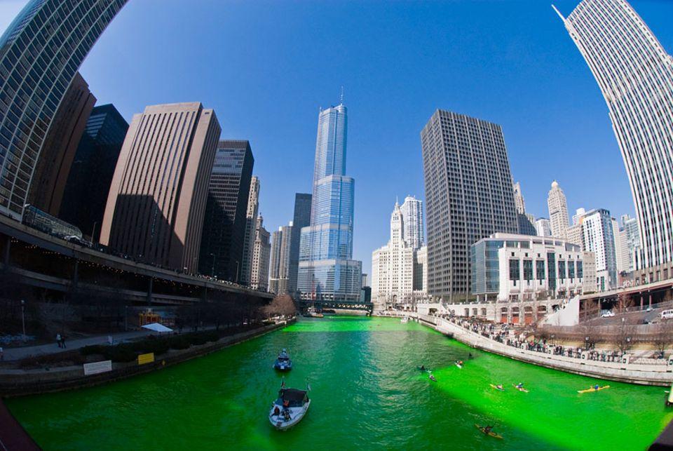 Unnützes Wissen: Am St. Patrick's Day wird der Chicago River grün gefärbt