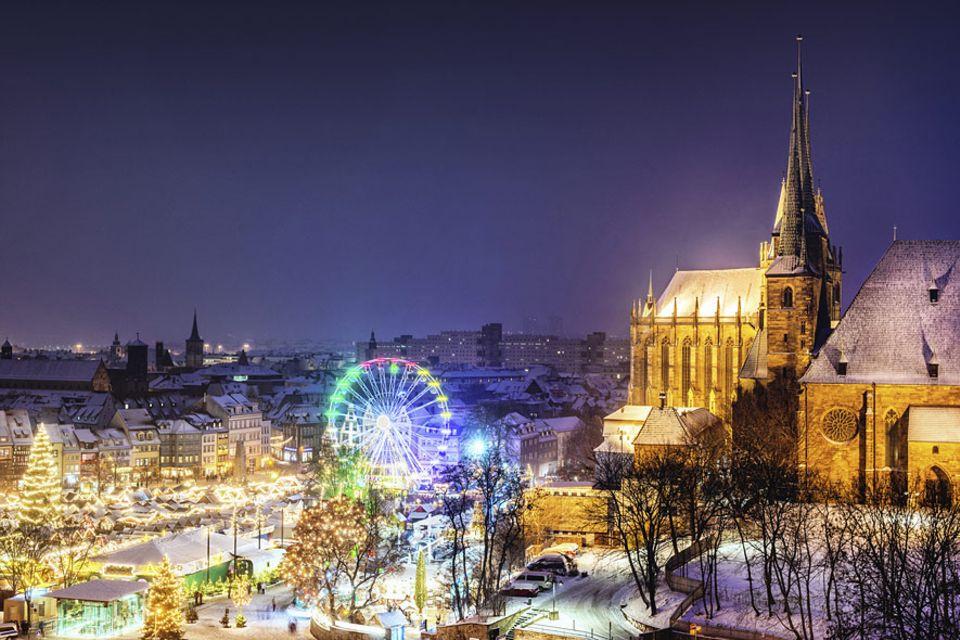 REISEZIEL: Der Erfurter Dom und der Weihnachtsmarkt strahlen pünktlich zum 1. Advent im Weihnachtsglanz
