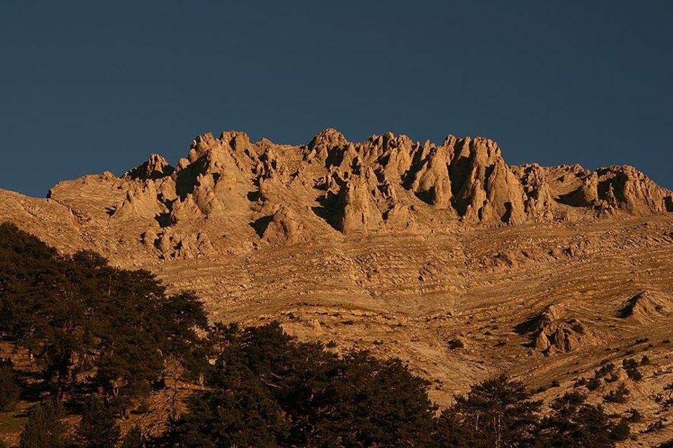 Der Olymp, der höchste Berg Griechenlands, Berg der Götter. 2.918 m über dem Meer