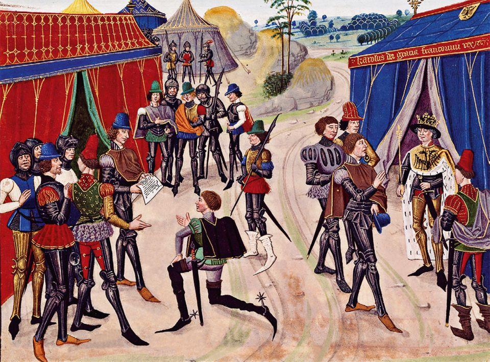 Otto der Grosse: Dutzende Würdenträger mit Gefolge sind 973 zum Hoftag angereist. Vermutlich finden nicht alle geistlichen und weltlichen Herren Platz innerhalb der Mauern Quedlinburgs. Viele Reiter müssen in Zelten außerhalb der Stadt übernachten