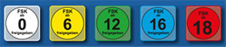 Film: Die fünf FSK-Prüfsiegel haben unterschiedliche Farben