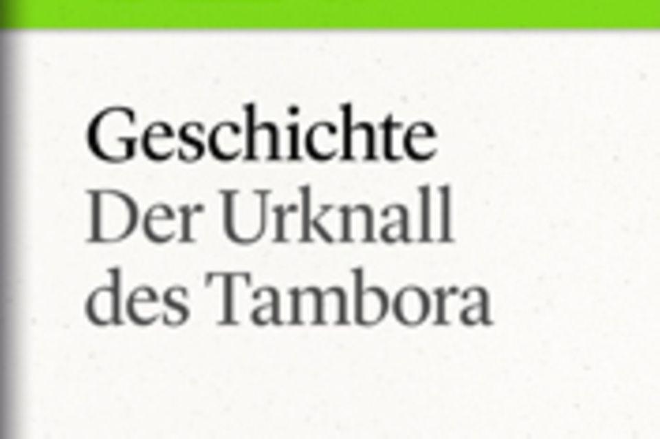 """Der Urknall des Tambora: GEO eBook """"Geschichte"""""""