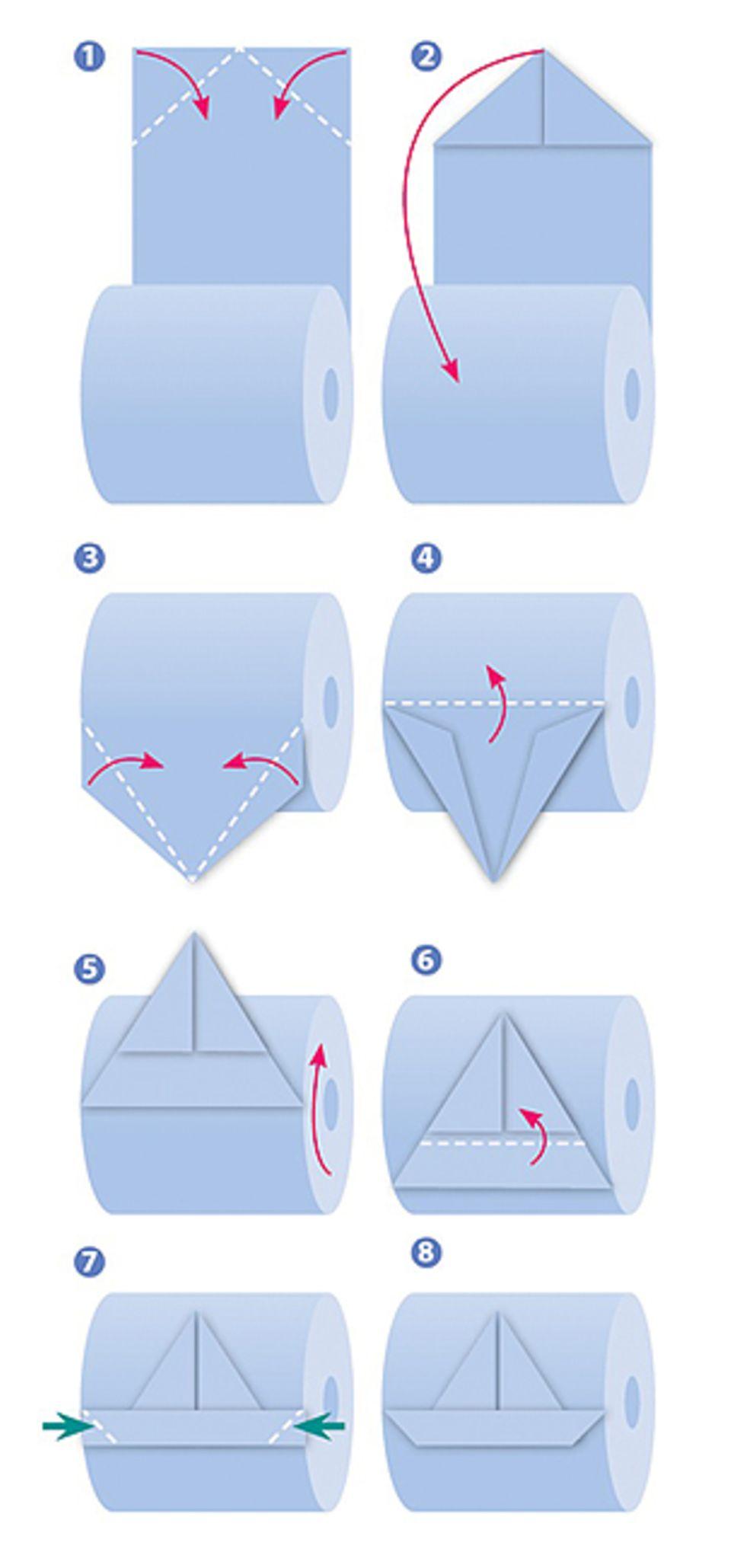 Origami: Basteln mit Klopapier