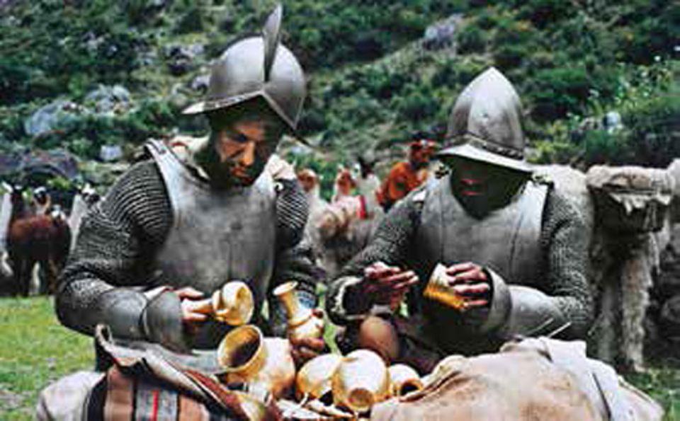 Südamerika: 1532 lockt Francisco Pizarro den mächtigen Inka-König Atahualpa in einen Hinterhalt und nimmt ihn als Geisel. Daraufhin schicken dessen Untertanen tonnenweise Gold, um ihren Herrscher freizukaufen. Die Spanier registrieren penibel jede einzelne Kostbarkeit, um nicht den Überblick zu verlieren - und erdrosseln Atahualpa am Ende doch
