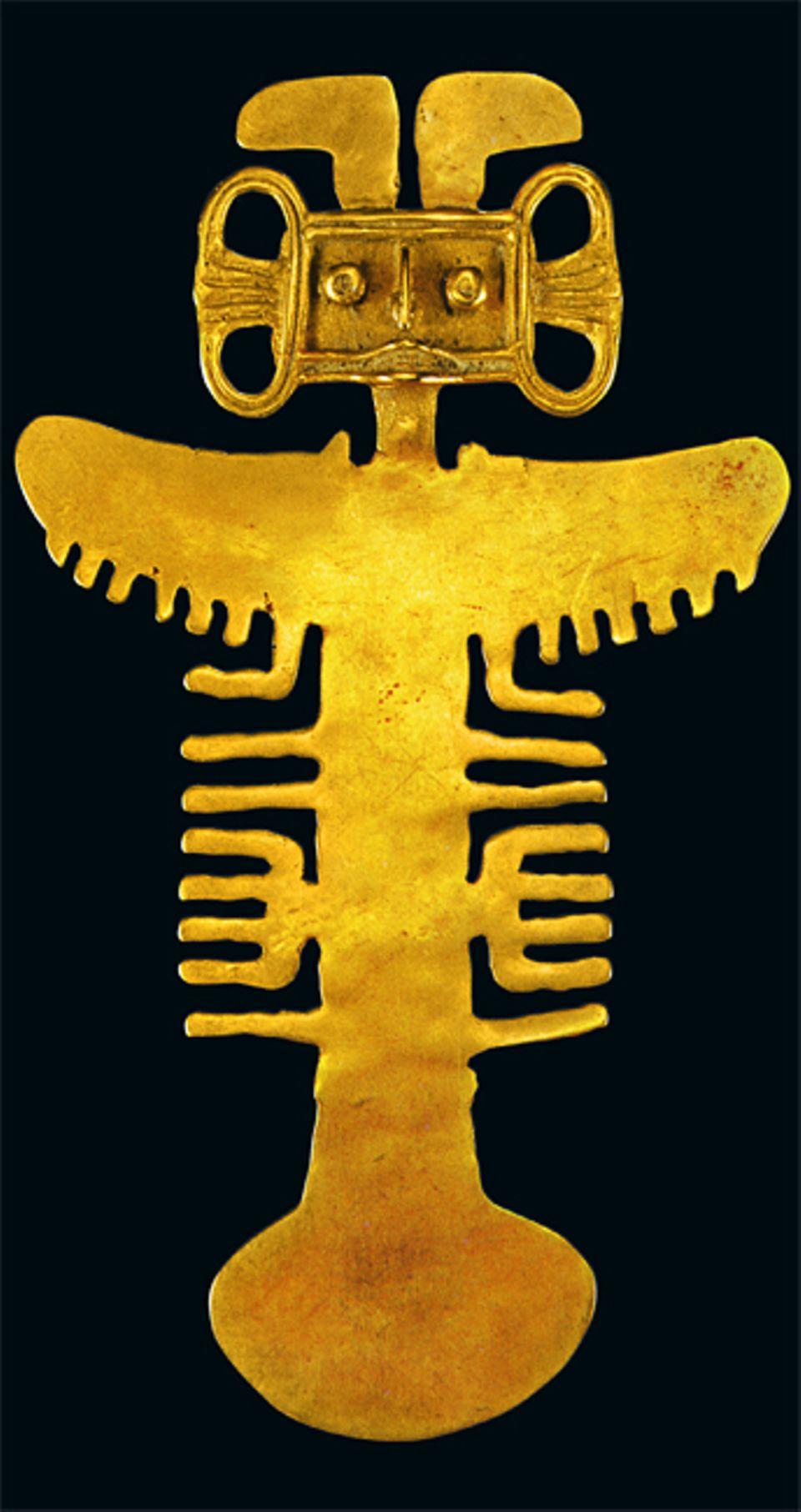 El Dorado: Meist nehmen die Indio-Fürsten ihre Kleinodien mit ins Grab - und so lässt sich jede Herrschergeneration wieder eigene Schmuckstücke anfertigen, beginnt die Arbeit der indianischen Goldschmiede von Neuem