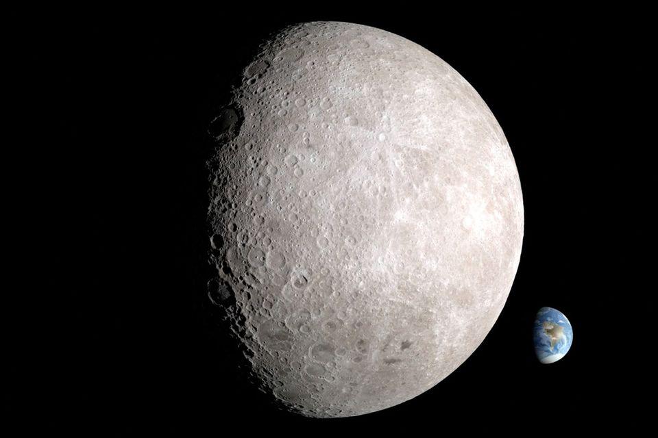 Rückseite des Mondes: So sieht der Mond von hinten aus