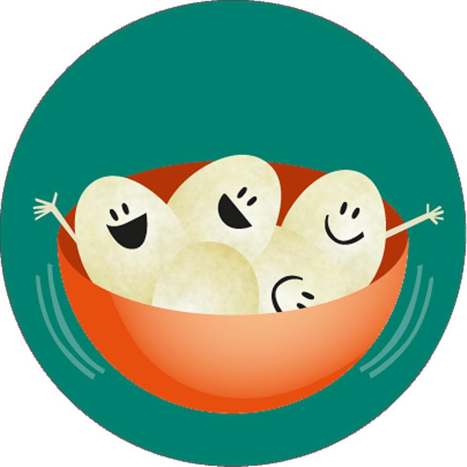 Eier pellen: Raus aus der Schale!
