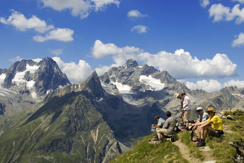 Österreich: Der Kaunergrat Naturpak beherbergt die größte Steinbockkolonie Österreichs mit 1200 Tieren. Wanderer können so zurecht hoffen eins der scheuen Tiere in freier Wildbahn zu sehen