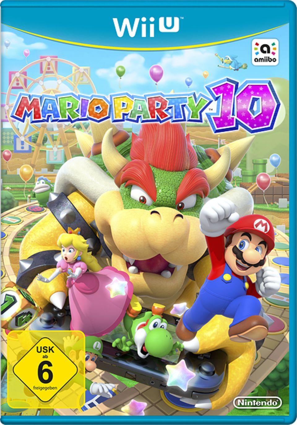 Konsolenspiel: Spiel-Cover Mario Party 10
