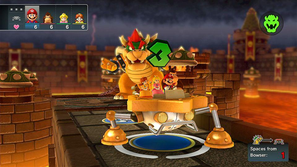 Konsolenspiel: Auch Bowser ist in Mario 10 wieder mit dabei und mischt das Spiel ordentlich auf