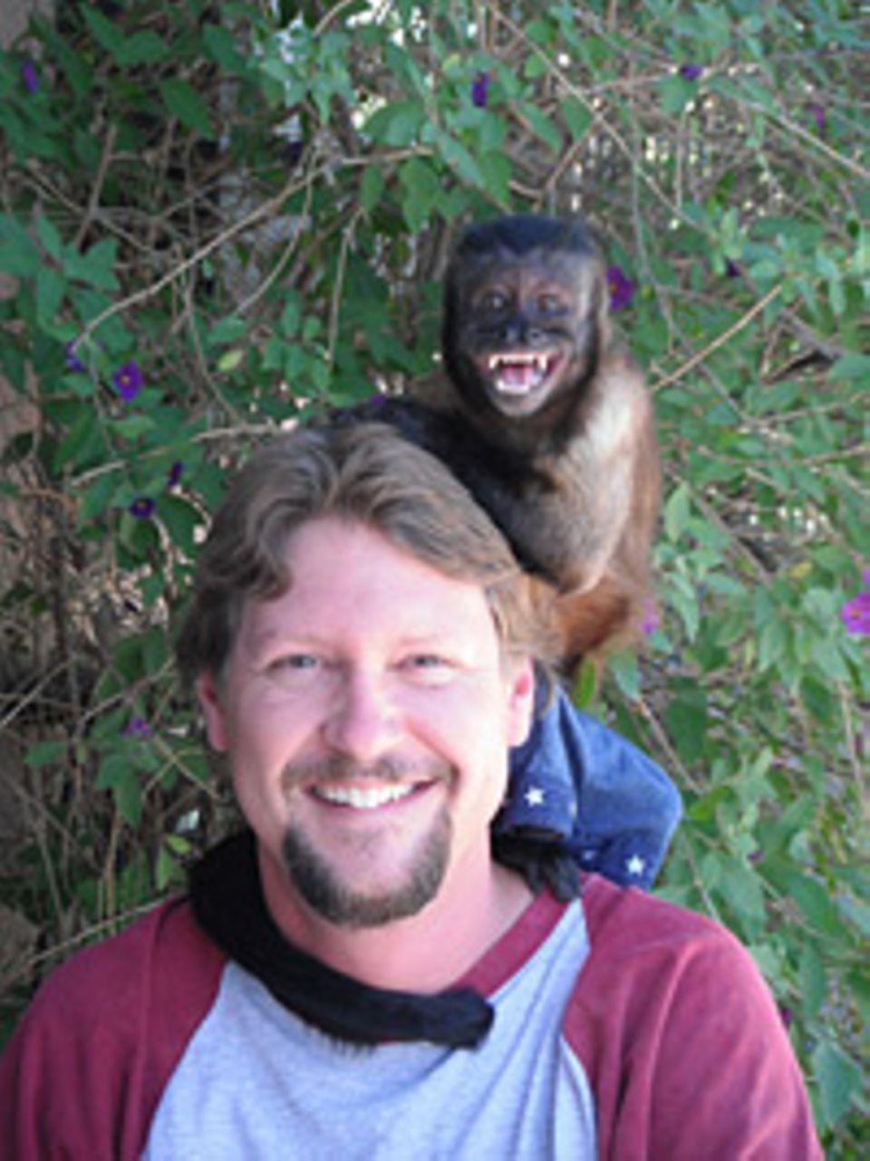 Beruf: Tiertrainer Tom mit Kapuzineräffchen Crystal