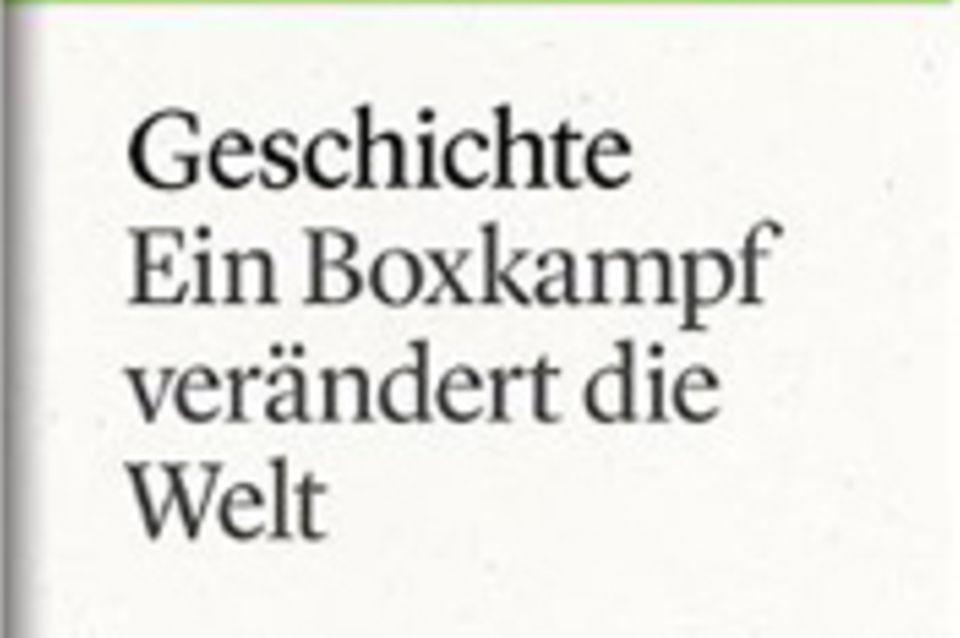 """Ein Boxkampf verändert die Welt: GEO eBook """"Geschichte"""""""
