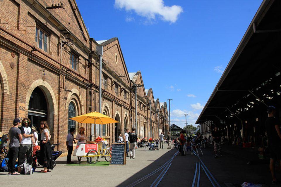 Reisetipps: Ein bisschen Berlin-Feeling in Sydney: Jeden Samstag findet auf dem Gelände der Carriage Works ein Food Market statt