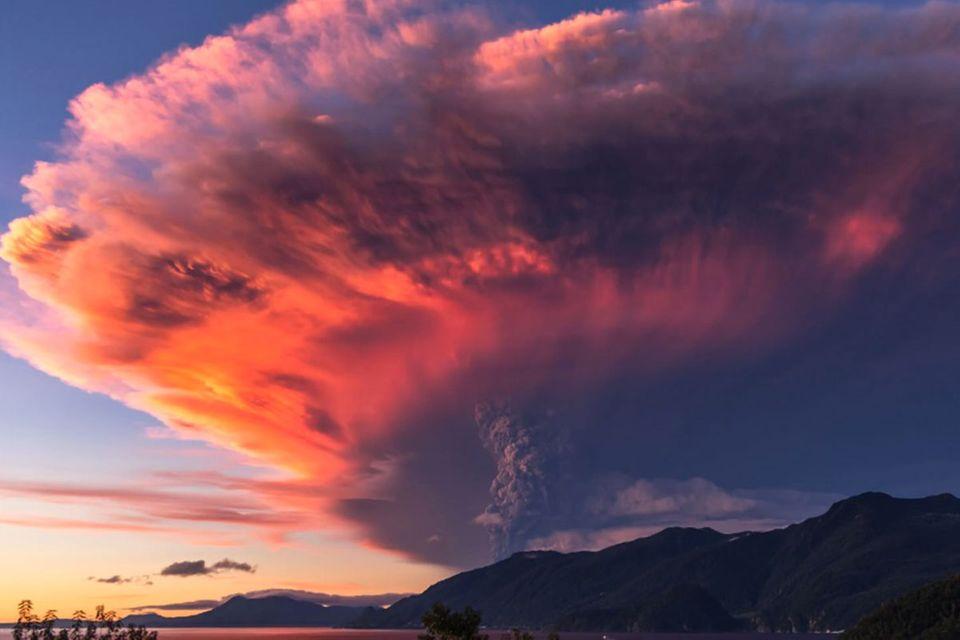 4k-Zeitraffer: Spektakuläres Video vom Ausbruch des Vulkan Calbuco