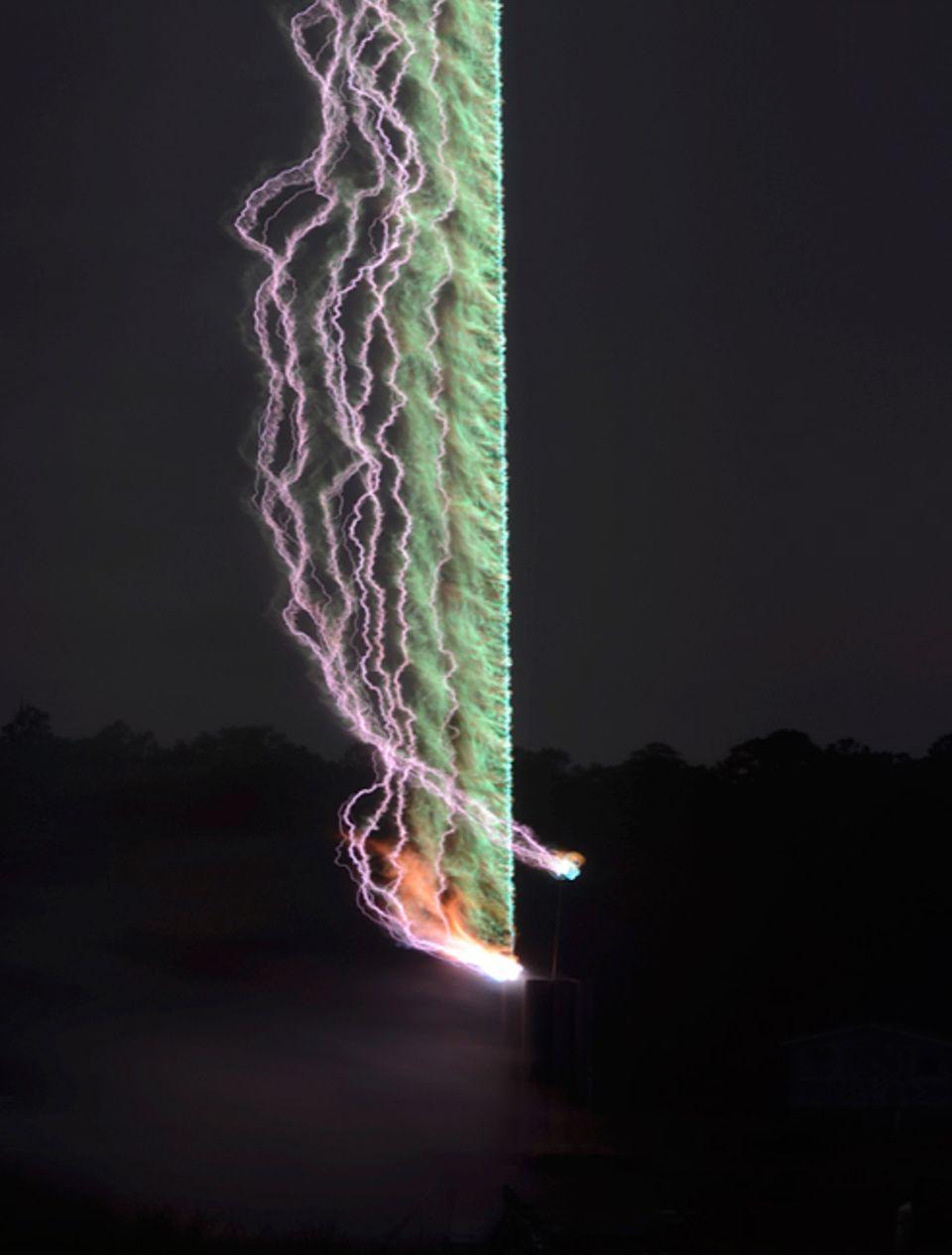 Meteorologie: Forscher haben mit Mikrofonen das Rollen des Donners aufgenommen - und in ein Foto verwandelt