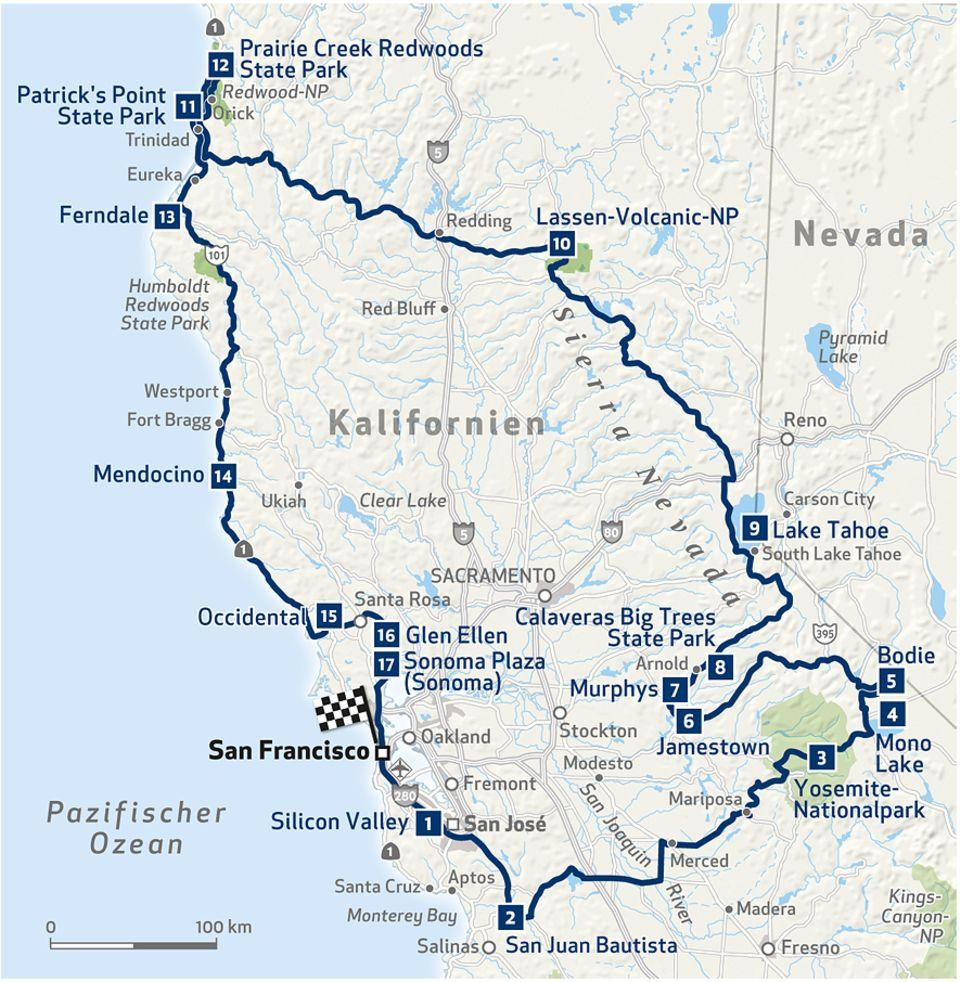 Roadtrip: Die Route durch Kaliforniens Norden