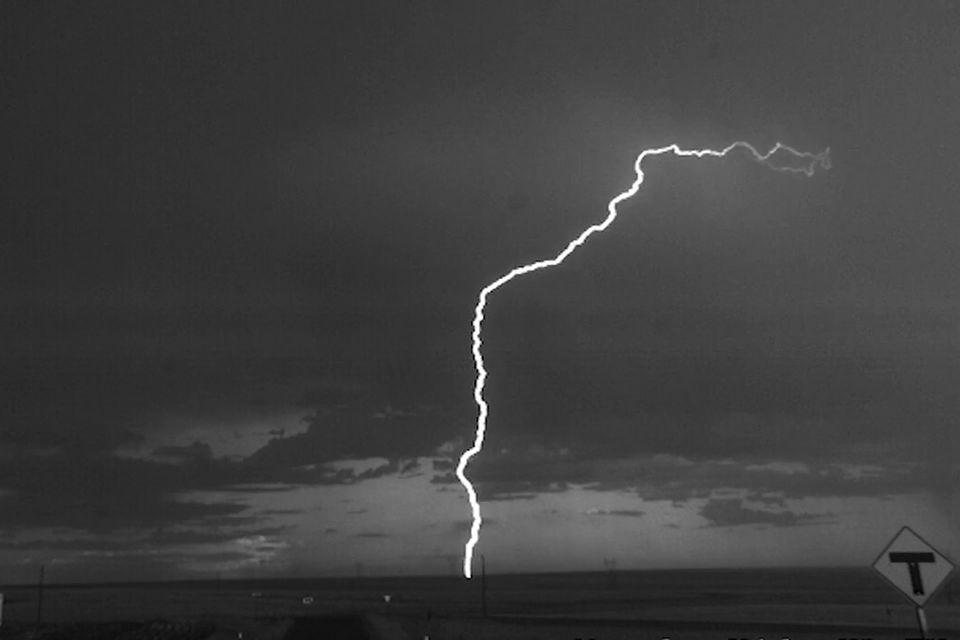 Gewitter: Blitze in Zeitlupe