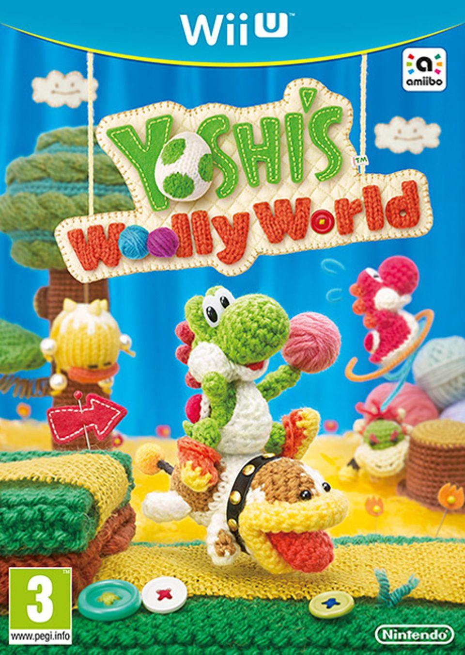 Konsolenspiel: Spiel-Cover Yoshi's Woolly World