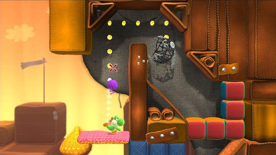 Konsolenspiel: Yoshi muss sich durch viele Welten kämpfen, in denen Gefahren lauern